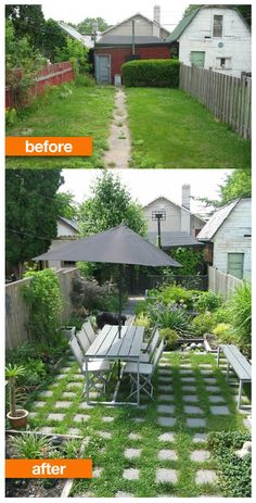 Before After Empty To Lush Backyard Landscaping IdeasPatio