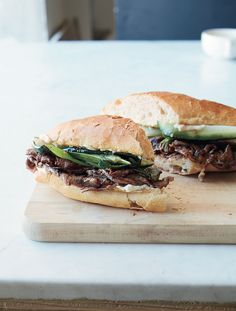Bulgogi-Style Pepper Steak Sandwiches Recipe | http://aol.it/1mmBn9P