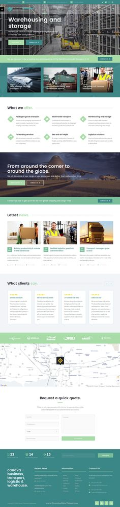 Transpo - Transport and logistics template Business website - web design quote template