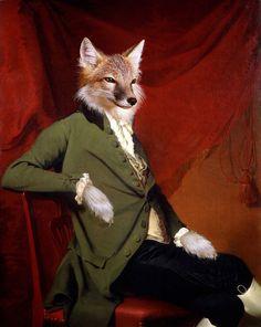 """""""Le Seigneur du pays"""" - Anthropomorphic fox portrait"""