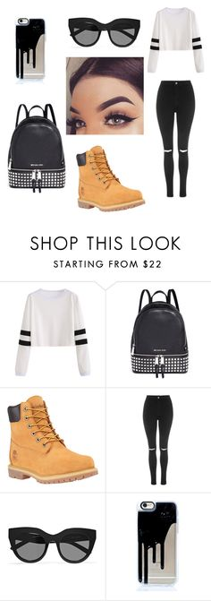 """Untitled #109"" by nasteexomohamud on Polyvore featuring Michael Kors, Timberland, Topshop and Le Specs"