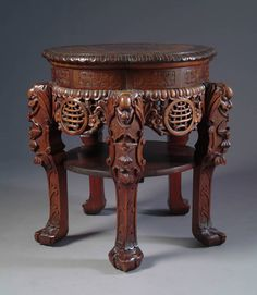 Japanese Rosewood Hand-Carved Pedestal | From a unique collection of antique and modern pedestals at https://www.1stdibs.com/furniture/tables/pedestals/