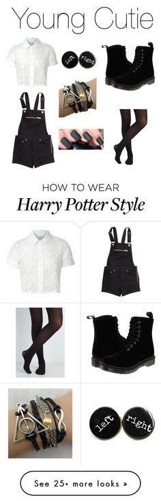 """""""Young Cutie"""" by jjj19 on Polyvore featuring Glamorous, H&M and Dr. Martens"""