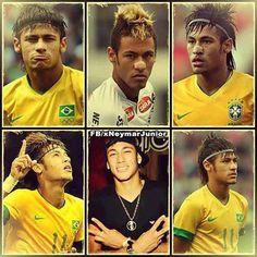 Pra que tanta beleza em uma so pessoa! Neymar Jr, Baseball Cards, Sports, Natural Person, Beauty, Hs Sports, Sport