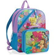 """Disney Fairies 16"""" Backpack with Dual Lunchpack"""