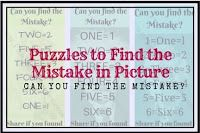 More Puzzles to Find the Mistake in Picture-Fun With Puzzles Mind Games Puzzles, Puzzle Games, Brain Teaser Puzzles, Picture Puzzles, Whats Wrong, Brain Teasers, Riddles, Writing Tips, Mistakes