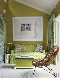 Sitting Room, J. Christopher Burch's Hamptons Beach House.