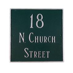Montague Metal Products Classic Standard Square Address Plaque Finish: Sea Blue / Gold, Mounting: Lawn