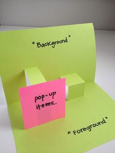 How to make a pop-up book