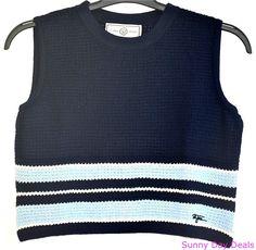 St John Sport Top Santana Knit Sleeveless Cropped Marie Gray Blue Shell P  #StJohn #KnitTop #Versatile