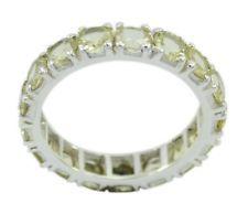 Lemon Quartz 925 Sterling Silver Ring fine Yellow jewellery AU gift