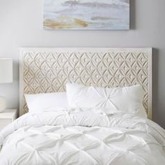Transform your sleep space into a luxurious spot to lounge. Our headboard is handcrafted with ornate details that give it regal appeal. Pottery Barn Teen Lily Carved Faux Headboard Faux Headboard, Dorm Essentials, Beds For Sale, Pottery Barn Teen, Dorm Bedding, Bed Furniture, Dorm Room, Room Inspiration, Carving