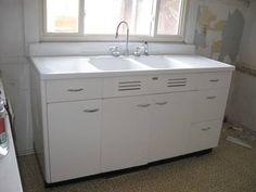 Lovely Old Metal Sink Cabinet