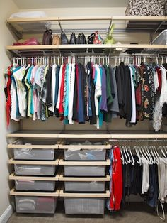 Elfa closet systems used throughout the home offer a lifetime of versatility and dependability. #elfa #closet #organization