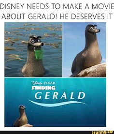 GERALD WAS ONE OF MY FAVORITE CHARACTERS! He is under appreciated.  #gerald #love #findingdory