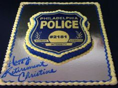 police cakes pictures | Police Badge Police Retirement Party, Police Party, Retirement Party Decorations, Retirement Cakes, Retirement Parties, Cakes For Men, Cakes And More, Police Cakes, Fireman Cake