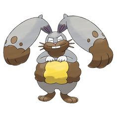 Bunnelby evolves into Diggersby and gains the Ground type when it does. It uses its large ears to dig holes in the ground. The ears are powerful excavators that can easily shift heavy stones.