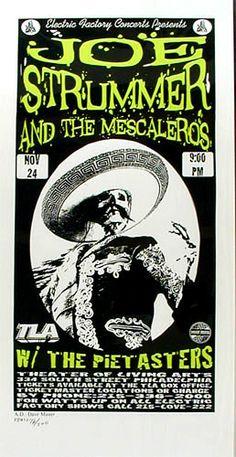 Joe Strummer And The Mescaleros   The Pietasters     Theater Of The Living Arts   11/24/1999   Artist: Print Mafia