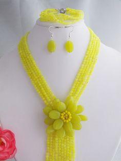 Beauty stone flower necklace bracelet fit 2014 wedding party MN-2246 $64.31