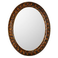 Crafted from resin, hand-painted and textured to look like real tortoiseshell, our oval Faux Turtle Shell Mirror will deliver a dose of antique glamour to a bathroom, bedroom or hallway. Can be hung vertically or horizontally.