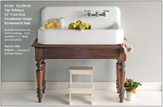 A page profiling vintage drainboard sinks in many styles and colors, where to find vintage drainboard sinks or reproductions as well as restoration options.
