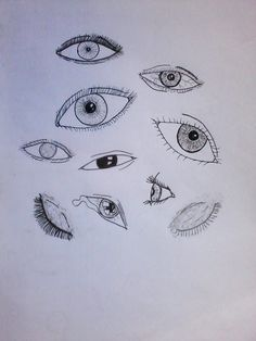 Olhares - Desenho à mão.