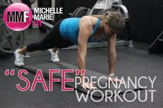 """Safe"" Pregnancy Workouts.  What #exercises & #workouts you CAN do during #PREGNANCY.  And a Sample Pregnancy Workout."