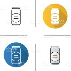 Beer can icons royalty-free stock vector art Free Vector Art, Flat Design, Image Now, Icon Set, Soda, Alcoholic Drinks, Royalty, Beer, Canning