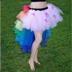 Nyan Cat Costume Rainbow bustle TuTu MTCoffinz ALL SIZES ($140) ❤ liked on Polyvore