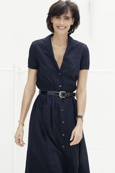 Ines de la Fressange for Uniqlo shirt dress Style Outfits, Mode Outfits, Fashion Outfits, Classy Outfits, Classy Clothes, Uniqlo, French Fashion, Timeless Fashion, Fashion Over