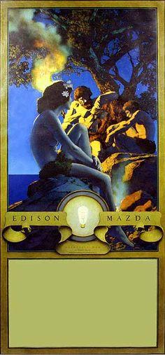 "Maxfield Parrish (American, 1870-1966). ""Primitive Man"" 1921."