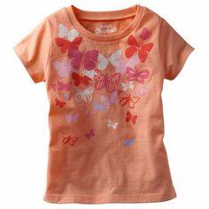 OshKosh B'gosh Originals Graphic Tee. The beautiful butterfly print creates a lovely style statement.