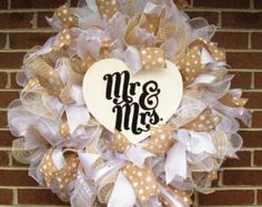 Wedding Wreath Bridal Wreath Bridal Shower by Fromthesouthdesigns