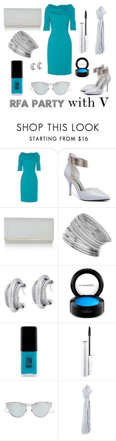 """""""Mystic Messenger: RFA Party with V"""" by thatshippertypefangirl ❤ liked on Polyvore featuring Oscar de la Renta, Monsoon, Miss Selfridge, Alor, MAC Cosmetics, JINsoon, Christian Dior and Faliero Sarti"""
