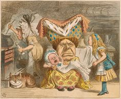 John Tenniel | Duchess with Baby | Alice in Wonderland | The Morgan Library & Museum