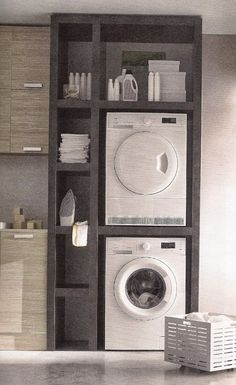 Best 20 Laundry Room Makeovers - Organization and Home Decor Laundry room decor Small laundry room organization Laundry closet ideas Laundry room storage Stackable washer dryer laundry room Small laundry room makeover A Budget Sink Load Clothes Laundry Storage, Laundry In Bathroom, Room Design, Laundry Mud Room, Small Spaces, Home, New Homes, House Interior, Bathrooms Remodel
