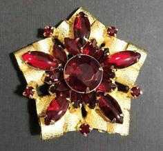 Silver Crystal Rhinestone Dangle Drop Necklace /& Earrings Set 719 Red W