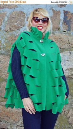 Check out this item in my Etsy shop https://www.etsy.com/listing/501196541/sale-25-off-green-laser-cut-wool-cape