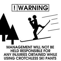 Funny Ski Sign