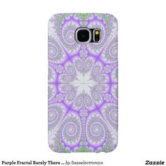 Purple Fractal Barely There Samsung Galaxy S6 Case