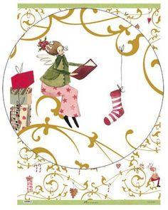 Geschenkpapier - Weihnachtsgeschenkpapier Silke Leffler - ein Designerstück von Buchpapier bei DaWanda                                                                                                                                                                                 Mehr