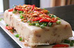 chinese steamed radish cake 萝卜糕 | The Domestic Goddess Wannabe