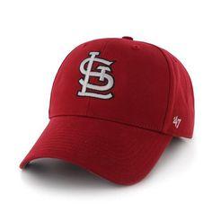 fd17ed2907825 St. Louis Cardinals 47 Brand Red MVP Adjustable Hat