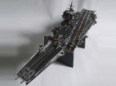 USS Enterprise Aircraft Carrier Paper Model In 1/800 Scale - by Tekzo    ==             A work of master by Indonesian designer Tekzo, from Paper Hobby website: a very detailed version in paper of the USS Enterprise Aircraft Carrier, in 1/800 scale!