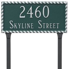 Montague Metal Products Franklin Rectangle 2 Line Address Plaque Finish: Brick Red/Gold
