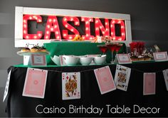 Un banner de naipes para una fiesta casino / A playing card banner for a casino party