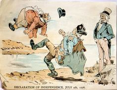 1880's Cartoon about the Declaration of Independence on BingoforPatriots.com