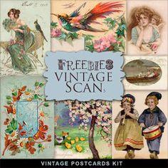 Far Far Hill: New Freebies Vintage Postcards