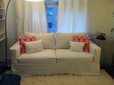 White Leather Sofa Custom Sofa Slipcover no cushions Re Design your Sofa