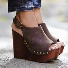 Plain Peep Toe Date Travel Wedge Sandals # fashionista , berrylook Cute shoes, My shoes, footwear for womens Zapatos Shoes, Shoes Heels, Dress Shoes, Slingback Shoes, Dress Pants, Shoes Uk, Shoes Sneakers, Cute Shoes, Me Too Shoes